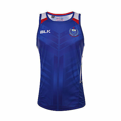 Manu Samoa Rugby Union Official Players Blue Training Singlet Size S-5XL!5