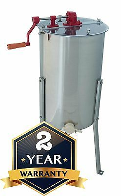 3 Frame Manual Honey Extractor for Beekeepers with 304 Stainless Steel Drum