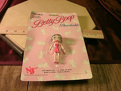 NIP BETTY BOOP-RED STRAPLESS DRESS-BENDABLE TOY RUBBER poseable-free ship