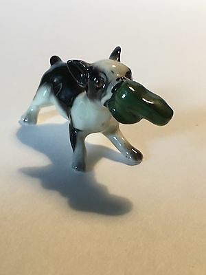 Vintage Boston Terrier Bone China Figure