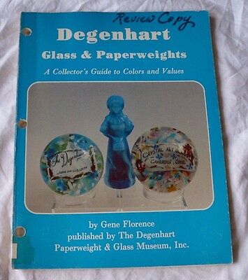 Book Degenhart Glass & Paperweights Collectors Photo Value Guide Gene Florence