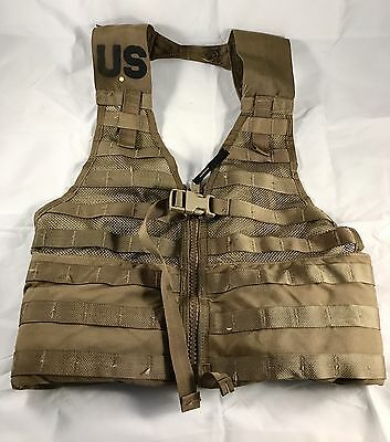 USED Fighting Load Carrier Tactical Vest LBV FLC USMC Coyote MOLLE II VGC