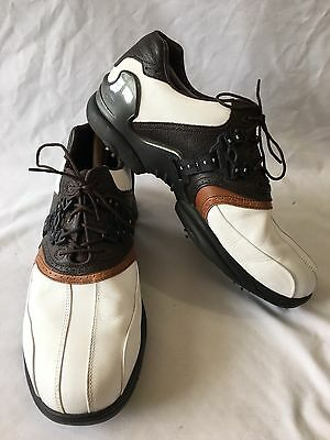 Footjoy 54705 LT Series Brown White Leather Golf Shoes Men's Size 10 1/2 M