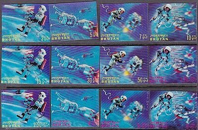 BHUTAN 1967 Space 3D set complete MNH......................................68033