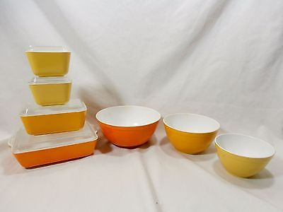 Set of 11 Pyrex Banner Plastic Toy 3 Nesting Mixing Bowls 4 Refrigerator Dishes