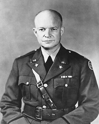 1941 Former US General DWIGHT D EISENHOWER Glossy 8x10 Photo Political Print