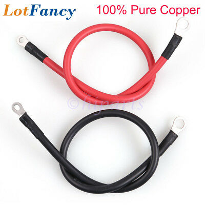 Battery Cable Set 20inch 6 AWG OFC Power Inverter Cables for Car RV Motorcycle