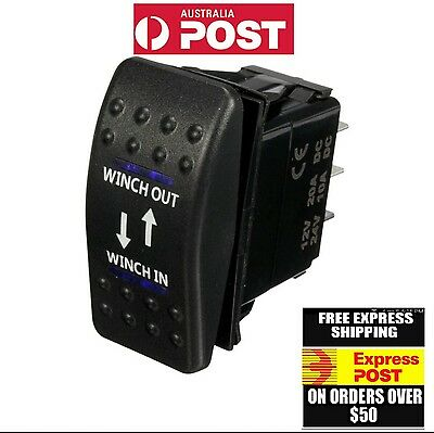 12V 20A 7P winch in winch out Blue  Light carling switch arb 4x4