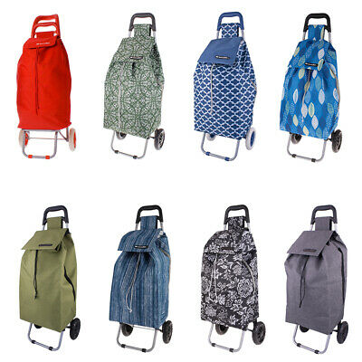 D.LINE Shopping Trolley Cart Rolling Wheel Fold Collapsible Cart Bag 6 Colors