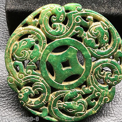 Old Chinese Neolithic xiuyu jade Hand carved Amulet Pendant   0001502