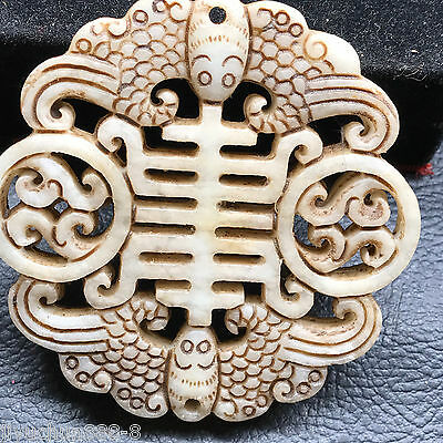 Old Chinese Neolithic xiuyu jade Hand carved Amulet Pendant   00015012