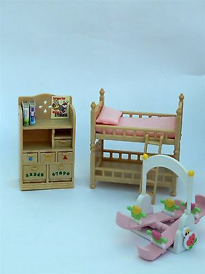 Sylvanian Families Nursery Bunk Beds, Cupboard And Seesaw