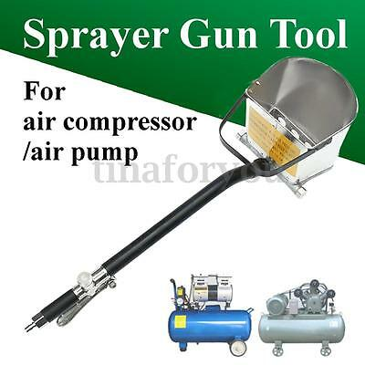 Cement Mortar Sprayer Hopper Air Stucco Spray Gun Wall Painting Concrete Tool