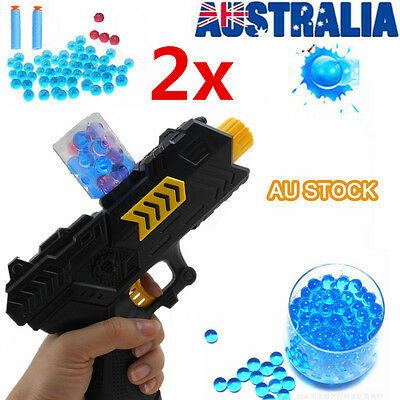 2 Sets Water Crystal Gun Paintball 2-in-1 Soft Ball Bullet CS Game Toy Gift AU