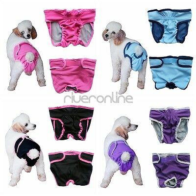 Female Dog Physiological Sanitary Pant Diaper Breeds Pantie Underwear Multicolor