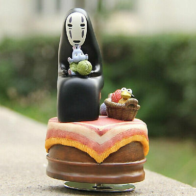 Spirited Away No Face Kaonashi Bird Knitting Figure Always With Me Music Box