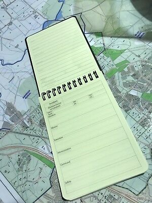 Tactical 1 Notepad / SMEAC / Fire Service / Water Resistant / Tough / Emergency