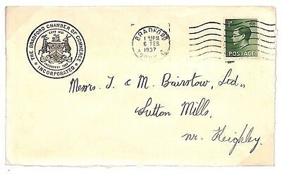 TT61 1937 GB Bradford Yorks EVIII Issues Cover PTS