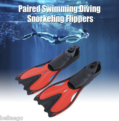 Paired Diving Flippers Snorkeling Shoes Swimming Training Equipment 3 Sizes