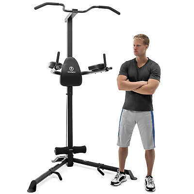 Marcy TC-3508 Deluxe Corner Power Tower Pull Up & Dip Station Gym with Leg Raise