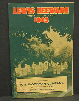 Antique Vtg 1923 Lewis Beeware Bee Keeping Catalog AG Woodman Co Grand Rapids MI