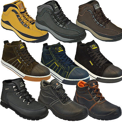 Mens Safety Boots Shoes Work Steel Toe Cap Hiker Ankle Ladies Work Wear 6- 13Uk