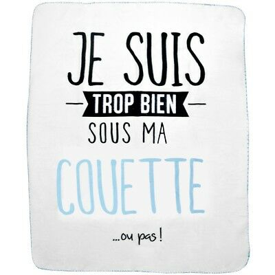 Promobo - Plaid Polaire Couverture De Confort En Polyester Collection Je Suis So