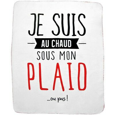 Promobo - Plaid Polaire Couverture De Confort En Polyester Collection Je Suis Au