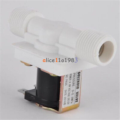 "1/2"" N/C DC 12V Magnetic Electric Solenoid Valve Water Air Inlet Flow Switch"