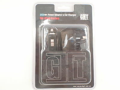 Ght Ghtc2B Ipod 5V 1A Power Adaptor & Car Charger New
