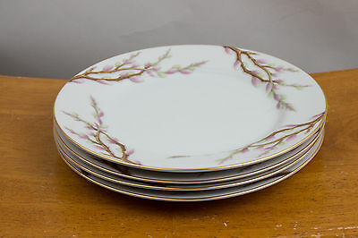 "Kent China Made In Japan ""Spring Willow"" 7.5"" Dessert Plates - Set Of 4"