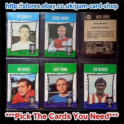 A&Bc 1967 Star Players Black Back (Good) *Pick The Cards You Need*