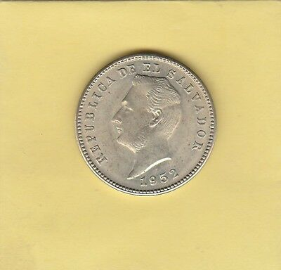 El Salvador 10c 1952 About Uncirculated Coin - FREE SHIPPING