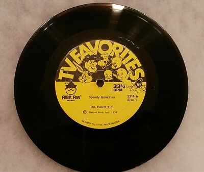 Peter pan 33 1/3 rpm record Speedy Gonzales The Carrot Kid #2314