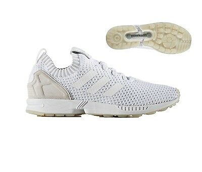 4a1a5b42f adidas ZX Flux PK Mens Running Trainer Size 7.5 - 11.5 White New Runner RRP  £