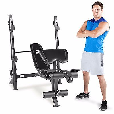 Marcy MD-867W Diamond Weight Bench with Mid-Width Rack & Rear Walk-in Squat Cage