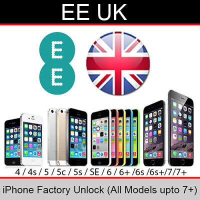 EE UK iPhone Factory Unlocking Service (All Models up to 7 Plus)