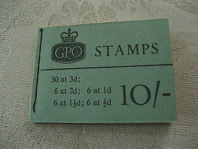 SCARCE 10/- BOOKLET 1958 CROWN 2d PANE INVERTED STITCHED BOOKLET SG X1