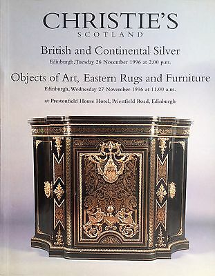 Christie's BRITISH & CONTINENTAL SILVER, OBJECTS OF ART, EASTERN RUGS FURNITURE