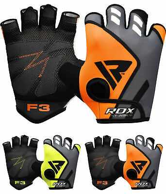 RDX Weight Lifting Gym Gloves Bodybuilding Training Workout Fitness AU