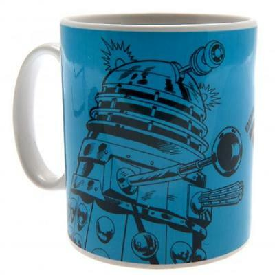 Doctor Who Mug Daleks Blue Cup Fun Fan Gift Box New Official Licensed Product