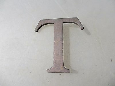 "Antique Brass Shop Letter ""T"" Sign Old Architectural Vintage Name Cast    3""H"