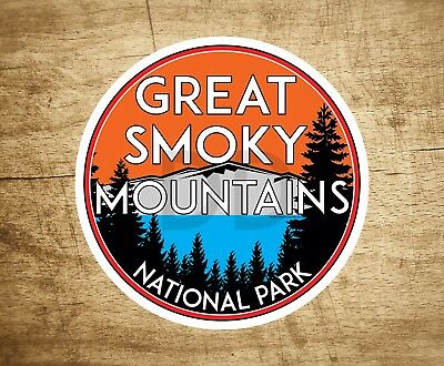 """Great Smoky Mountains National Park Vinyl Decal Sticker 4"""" x 4"""" Tennessee"""