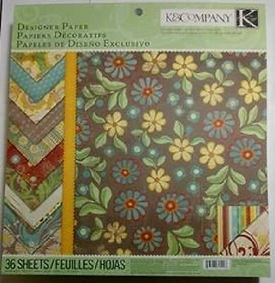 K&Company Wild Saffron Designer Paper Pad 36 pages Double Sided 1.9 lbs paper!