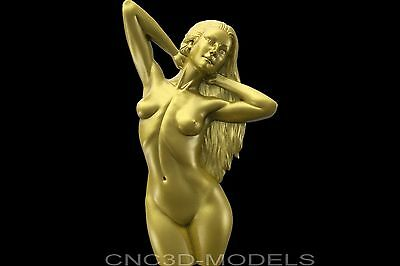 3D Model STL for CNC Router Engraver Carving Artcam Aspire Women Girl Naked 8606
