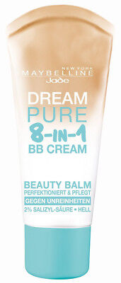 3 x Maybelline Dream Pure 8-in-1 BB Cream Hell Light je 30ml Gegen Unreinheiten