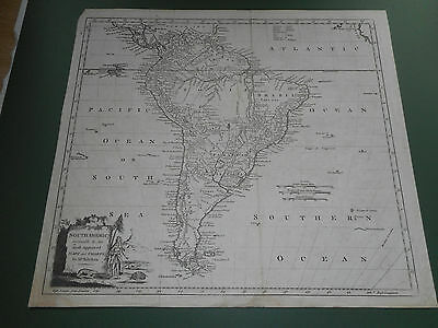 100% Original South America Map By Kitchin C1780 Vgc Low Postage