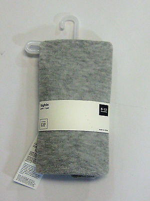 NWT Baby Gap Girls Size 0 6 12 Months Gray Knit Tights Stockings 0 3 6 12