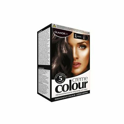 Black Colour Glamorize Permanent Hair Dye Colourant Hair Care Styling with glove