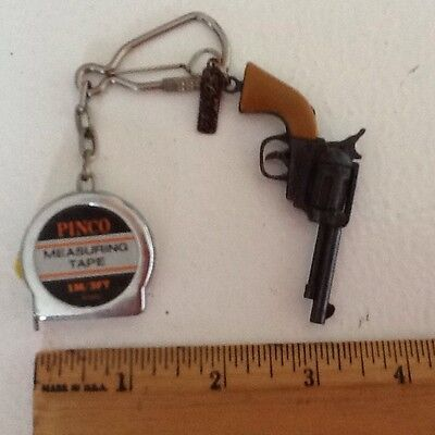 Pinco 3' METAL TAPE MEASURE &Victory 1 Shot Revolver Toy Free USA Shipping